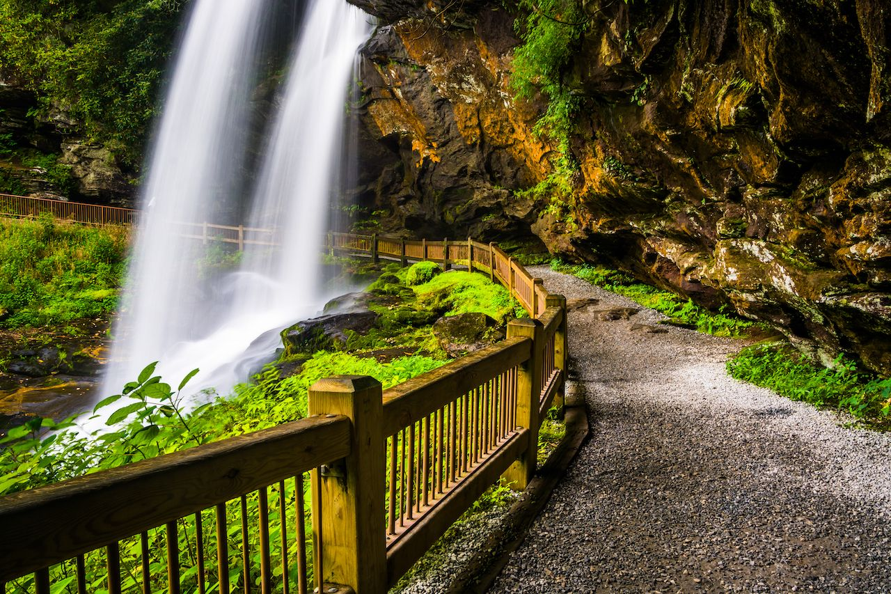 Dry Falls, in Nantahala National Forest