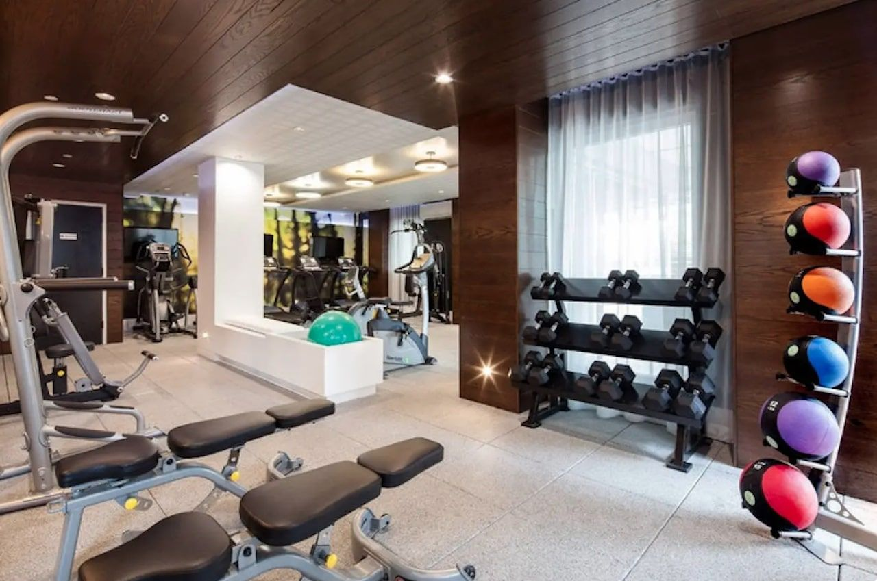 High-rise apartment with shared gym Brooklyn