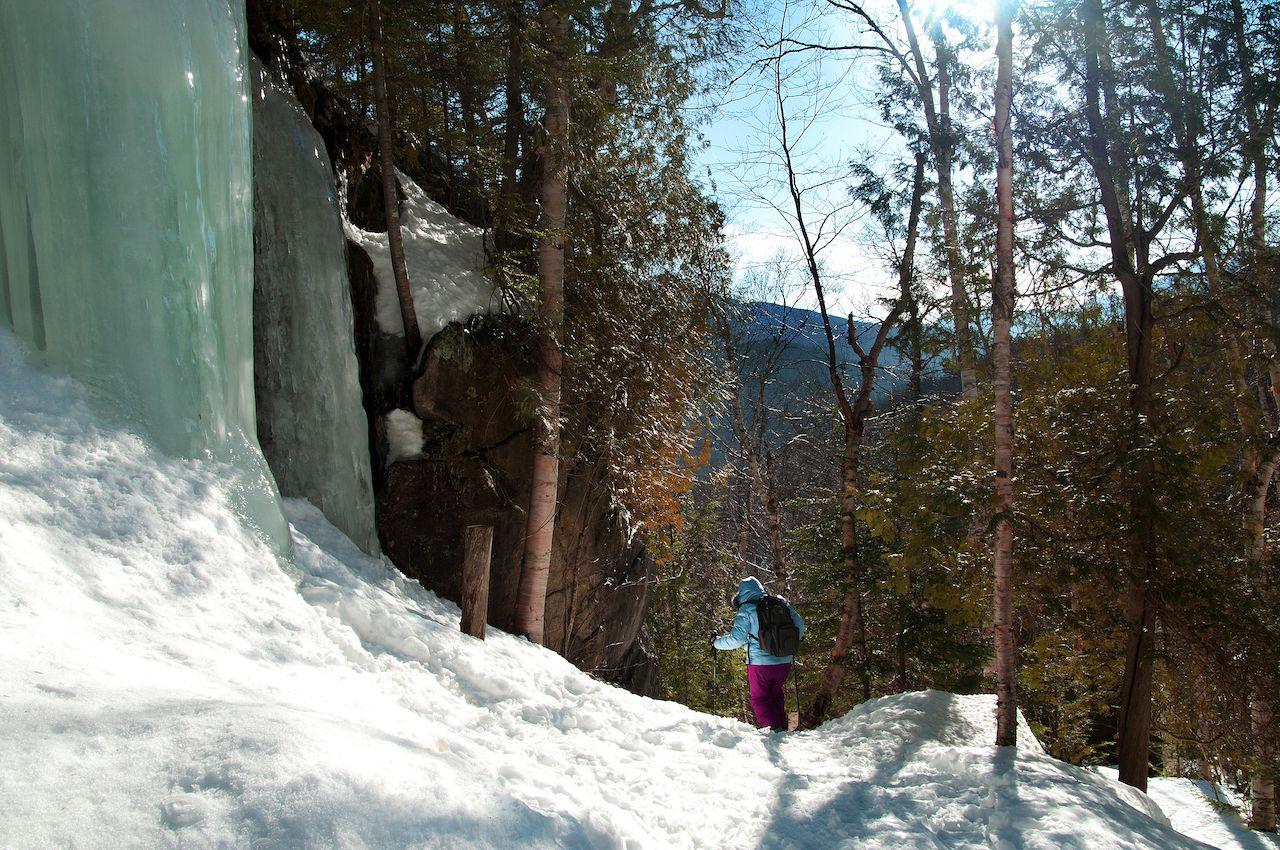 Hiking to the summit of Mount Jo in Adirondacks