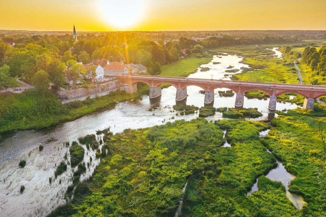 Kuldiga, Latvia. Drone