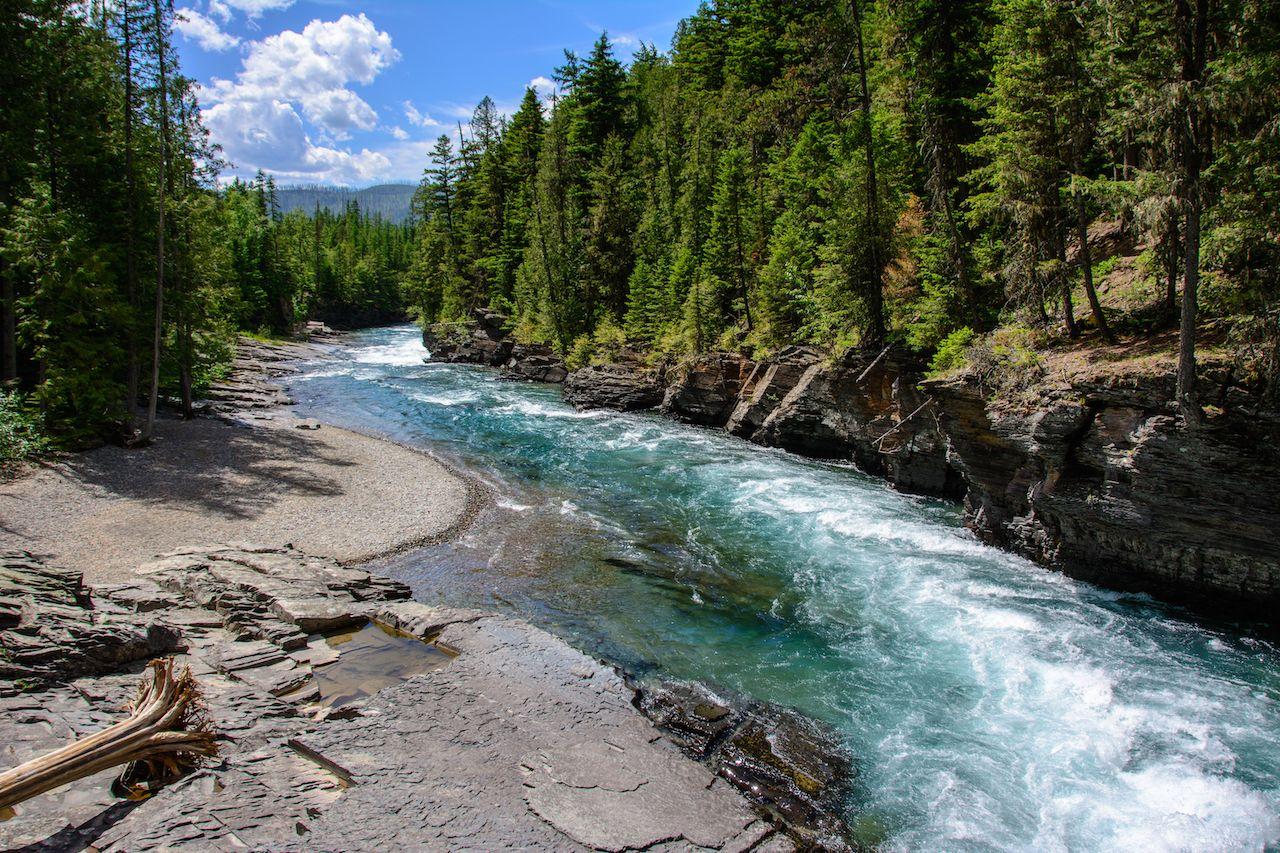 Middle Fork Flathead River in Glacier National Park, Montana