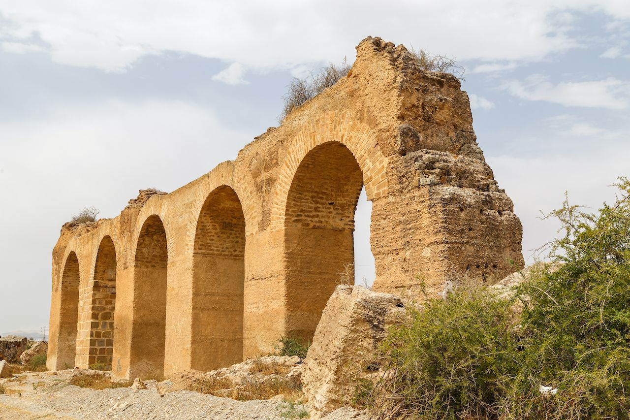 Ruins of the Roman aqueduct