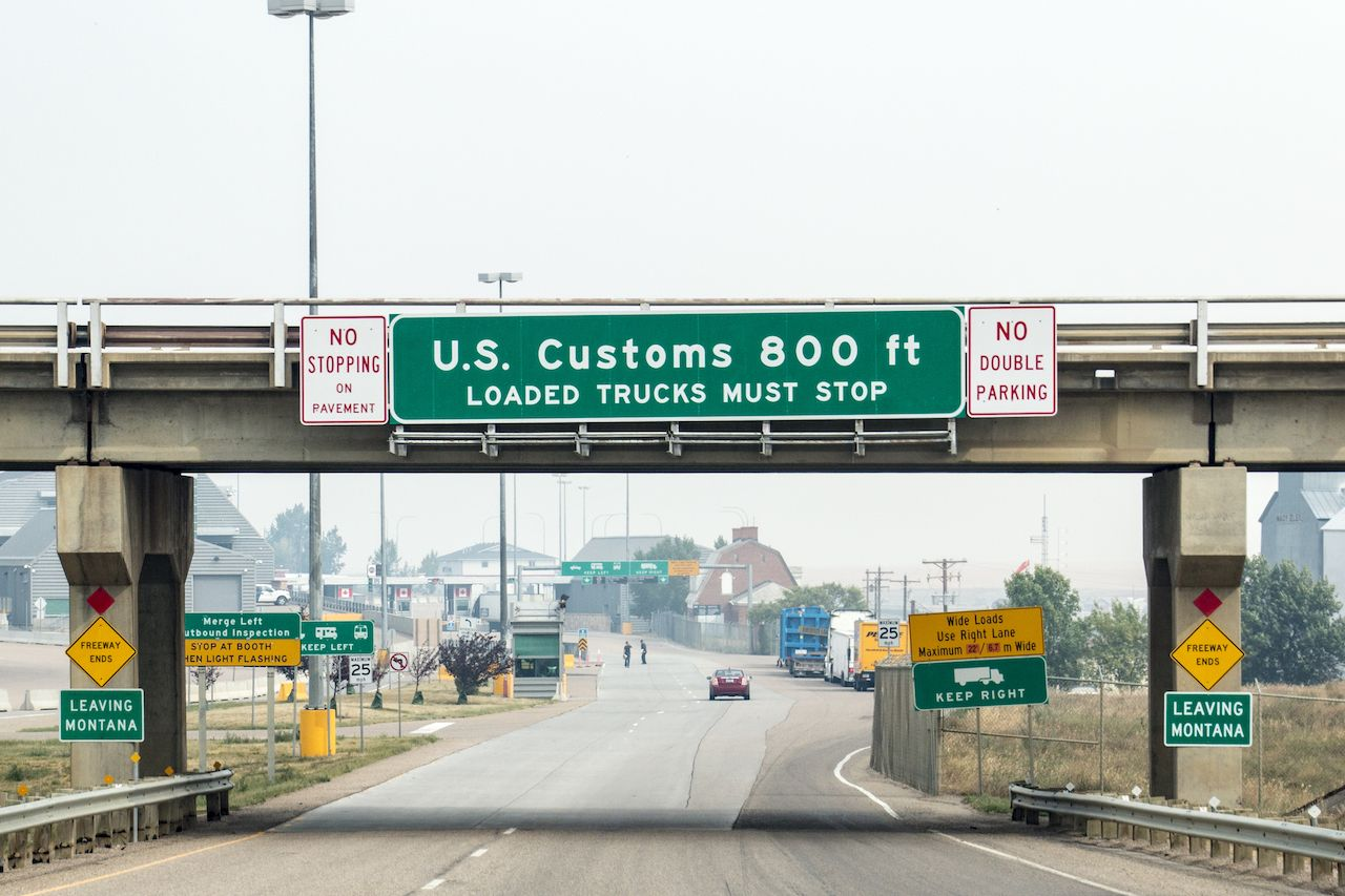 Cannabis at the US-Canada border