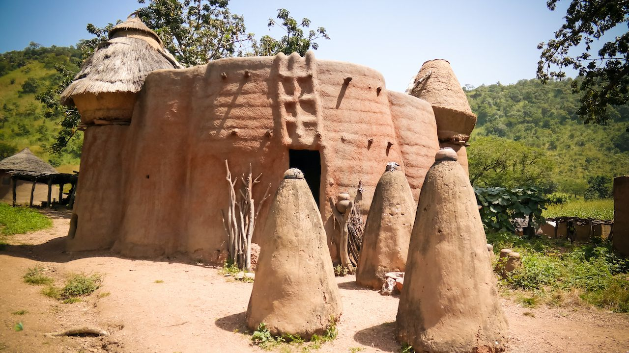Traditional Tammari people village