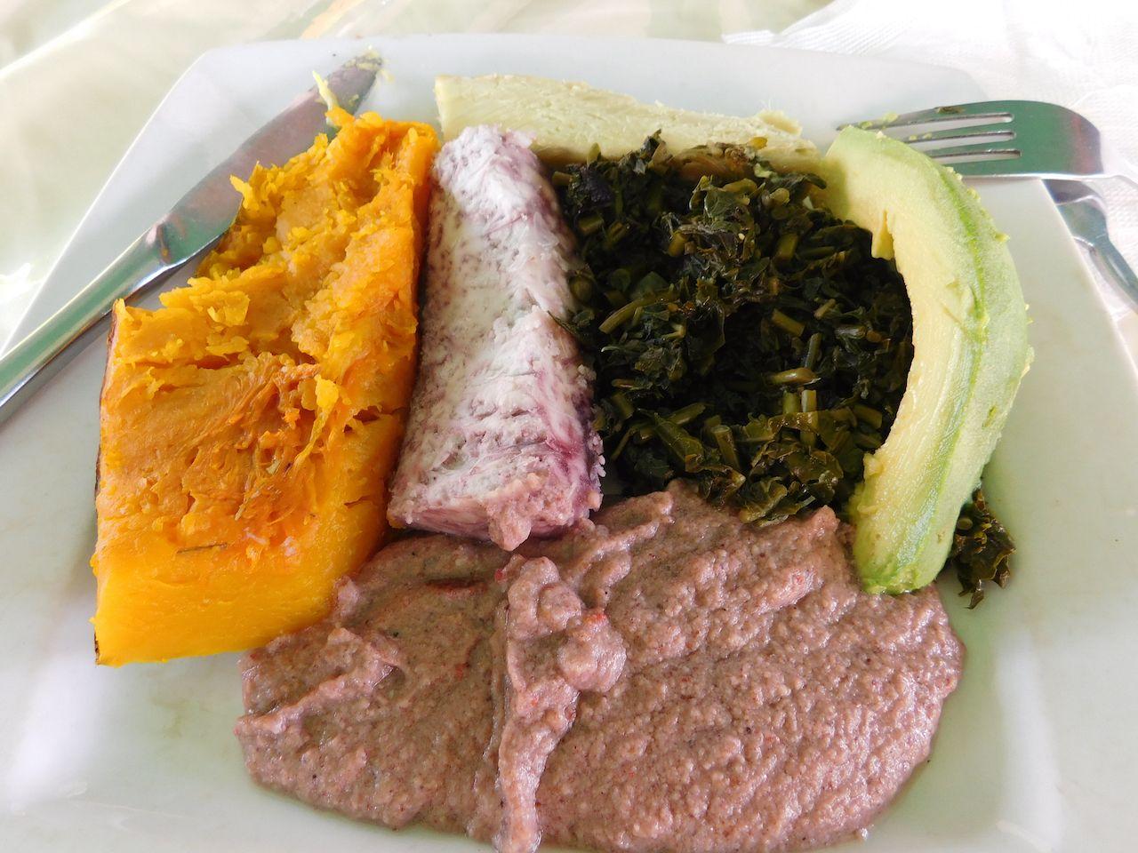 Banana dishes from Uganda like matooke
