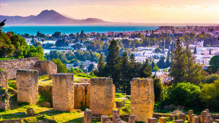 Tunisia was part of the Roman Empire and has spectacular ruins to prove it