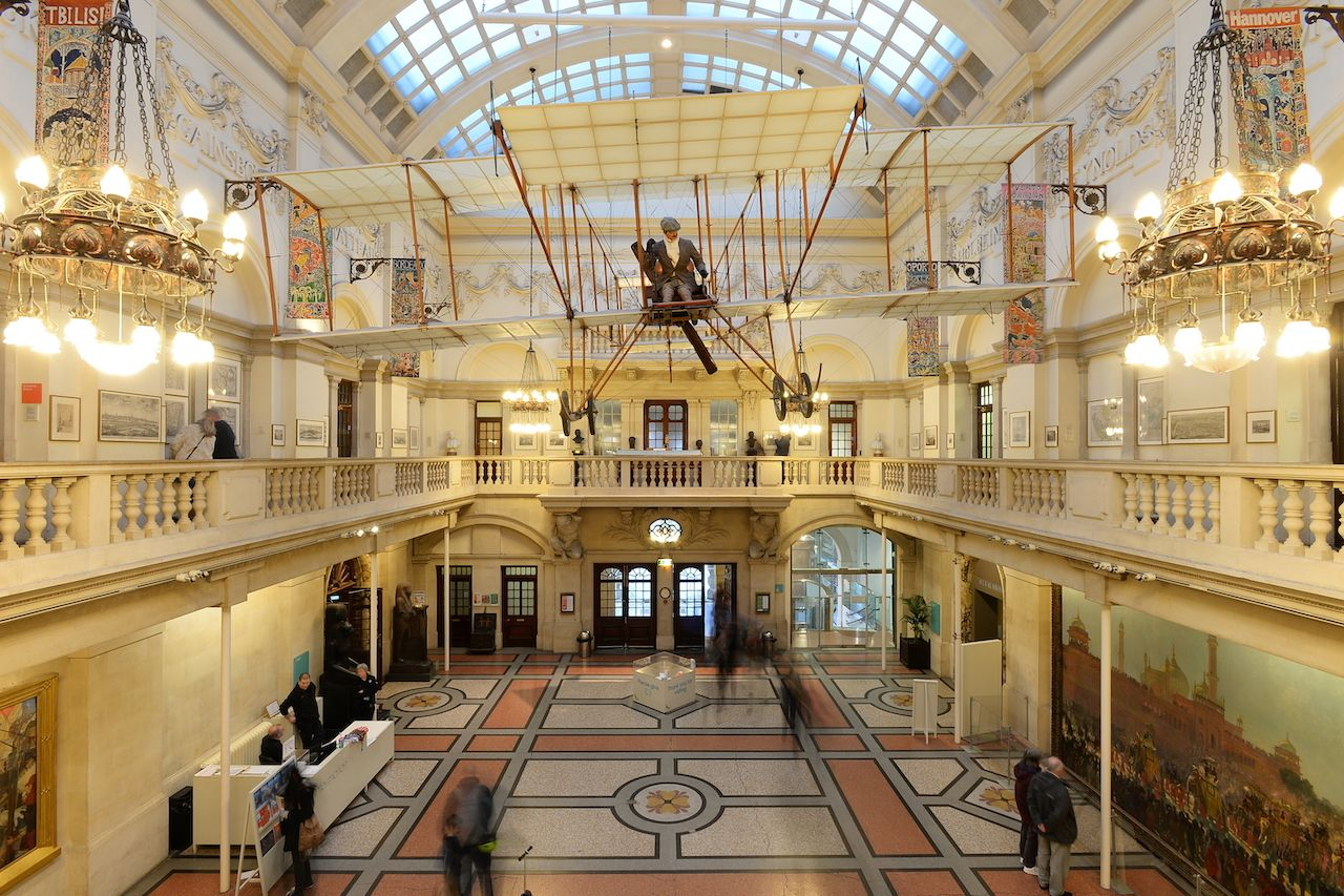 View of the main hall in Bristol Museum