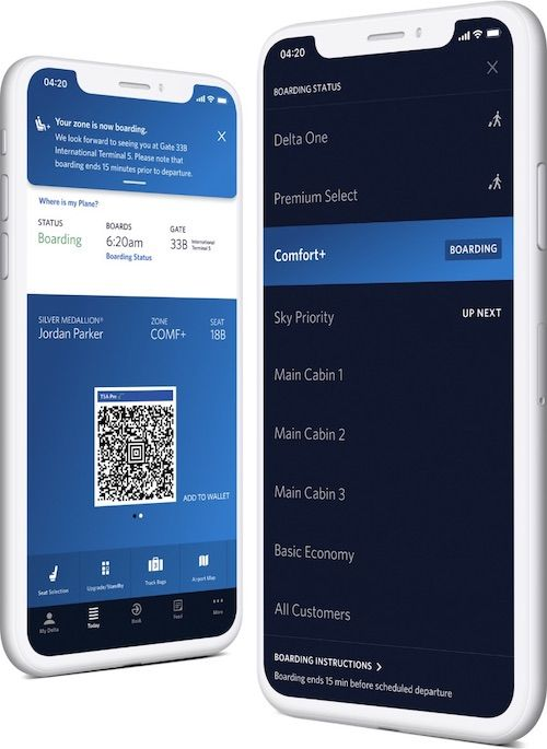 Virtual Queueing app feature Delta