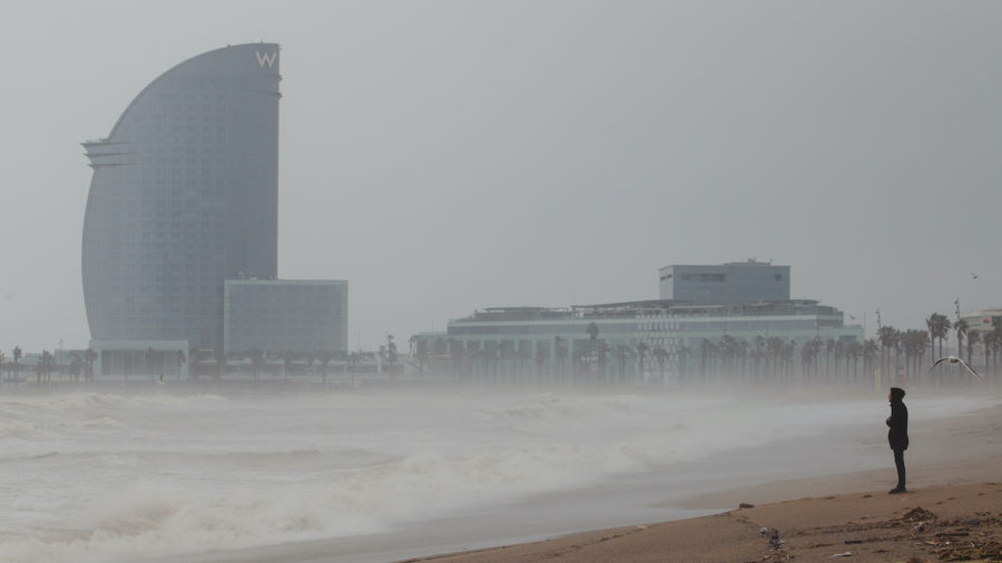 Powerful storm in Spain kills 13 and destroys Barcelona beaches