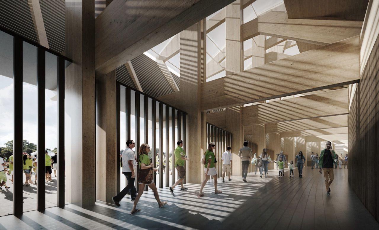 Sustainable soccer stadium