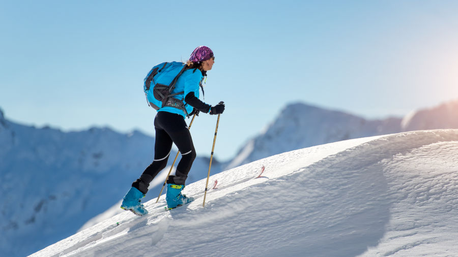 Uphill skiing is booming at winter resorts, and yes, these people are nuts