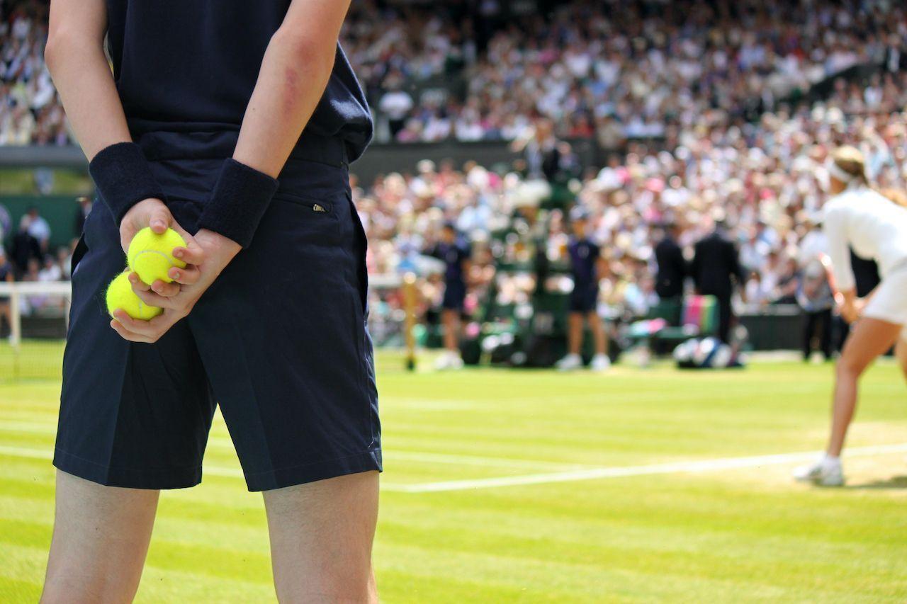 Ball boy tennis tournament