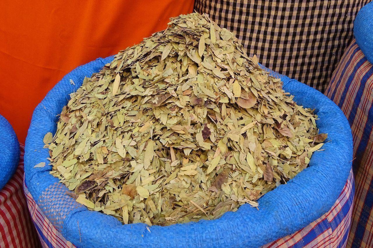 Berber tea in the market
