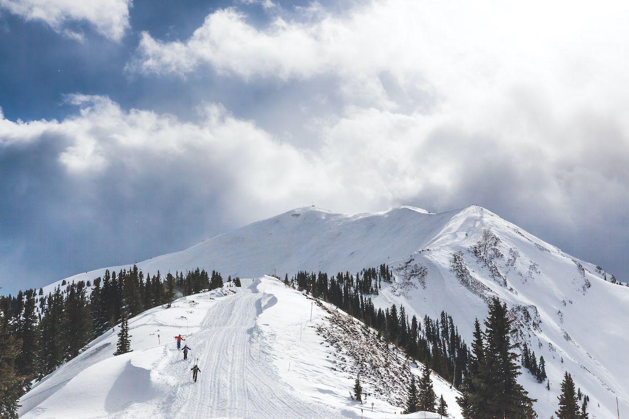 Skiing the Aspen Highlands bowl in Colorado