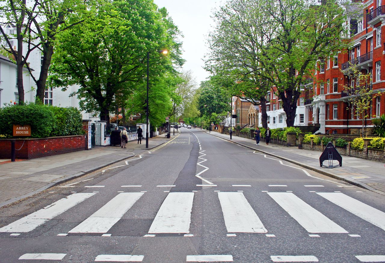 Abbey Road crosswalk repainted