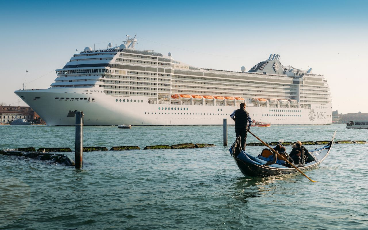 Cruise ship in italy
