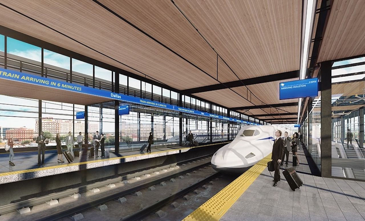 New high-speed train from Dallas