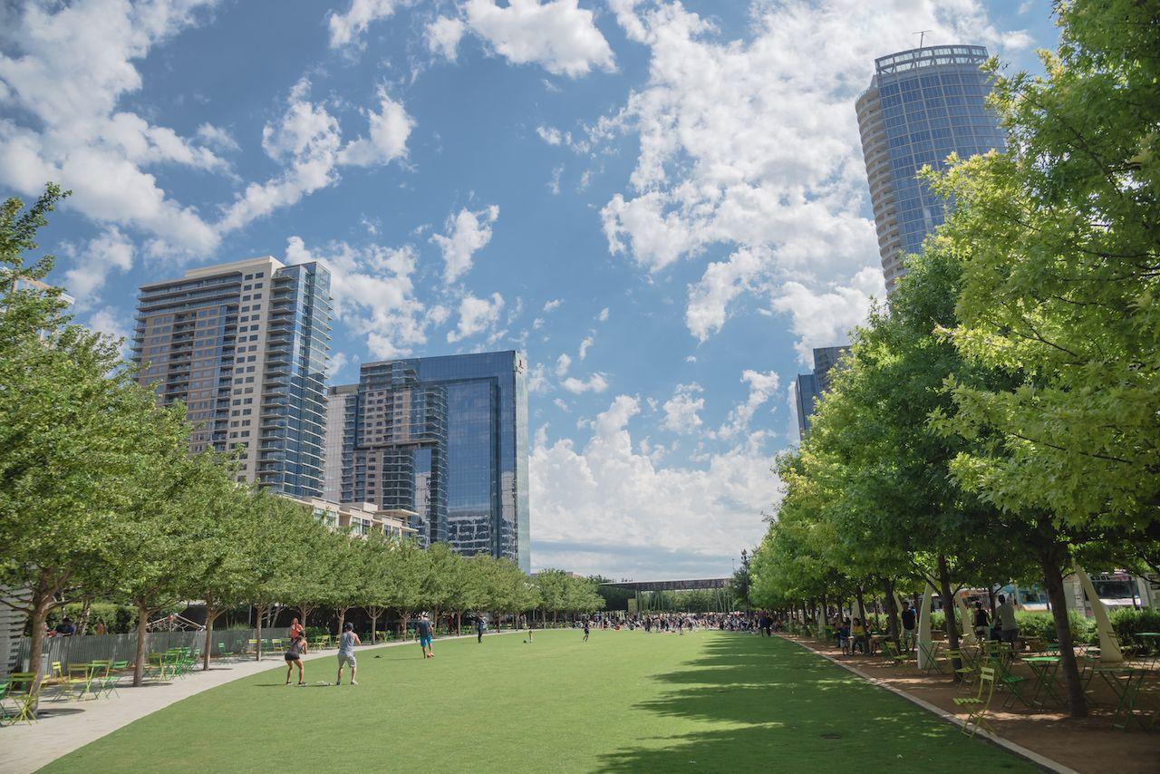 Klyde Warren Park a 5.2-acre public park in downtown Dallas, Texas