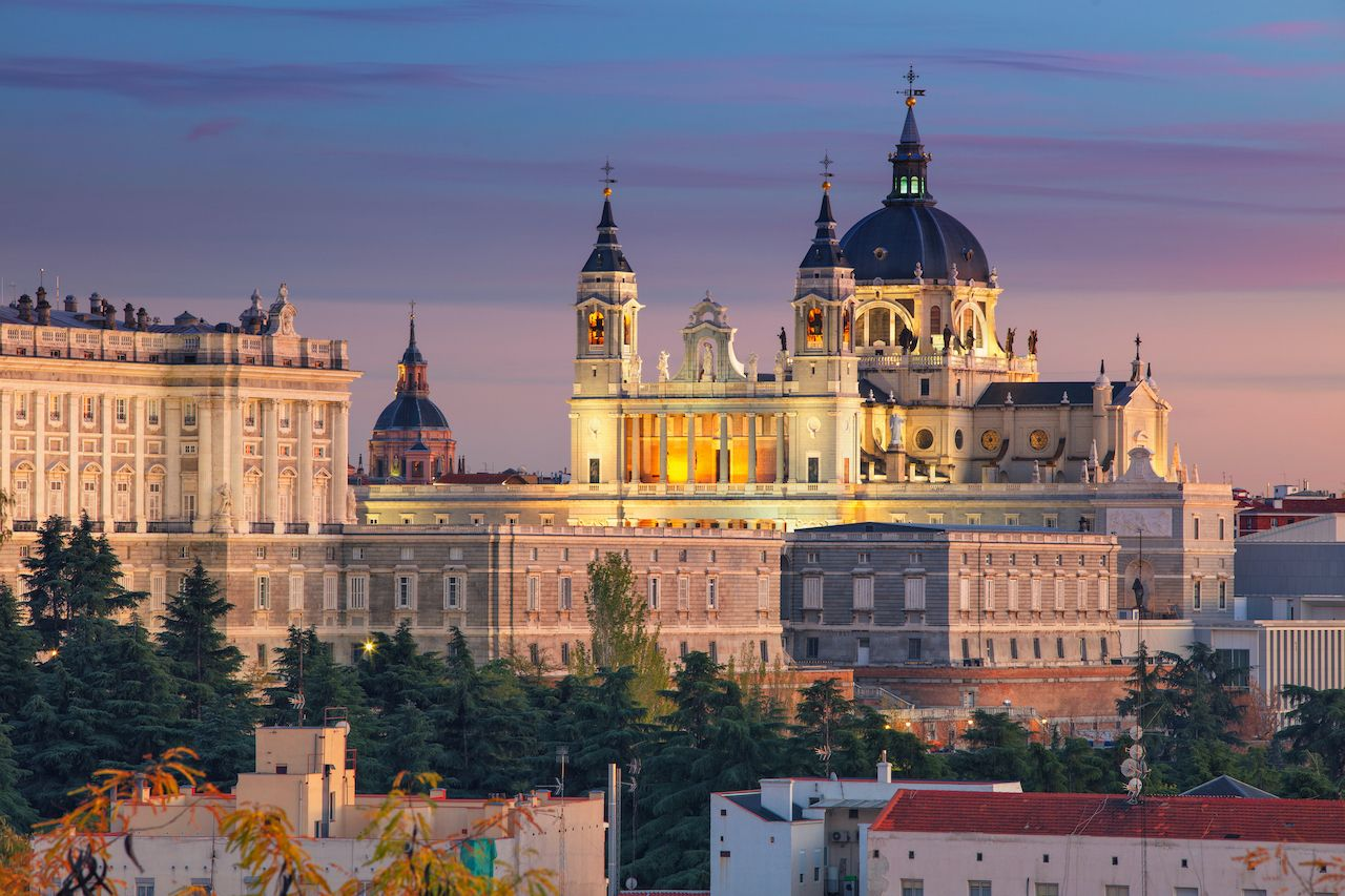 Madrid skyline with Santa Maria la Real