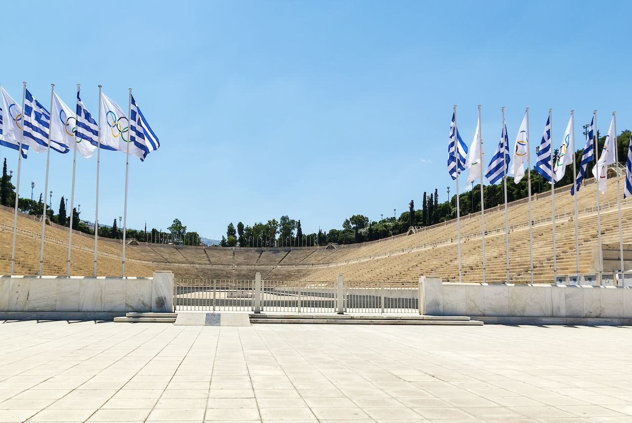 Panathenaic Stadium is an athletic stadium in Athens