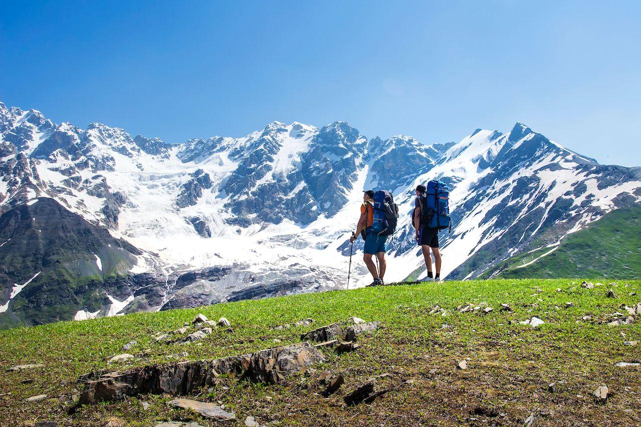 People in Caucasus Svaneti