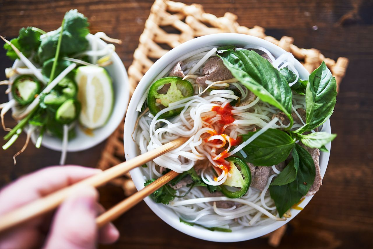 Different types of Asian broth