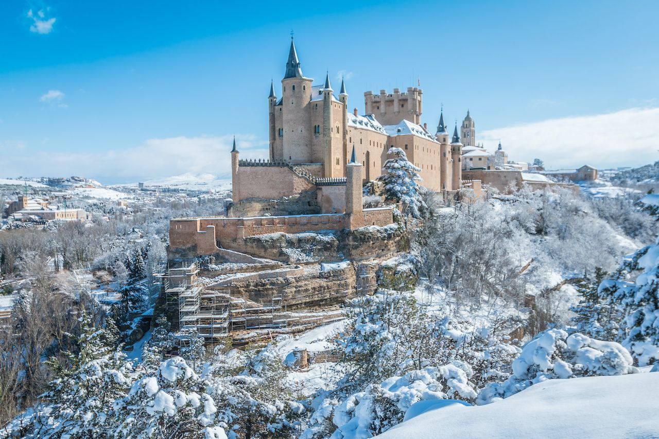 Segovia Spain during winter