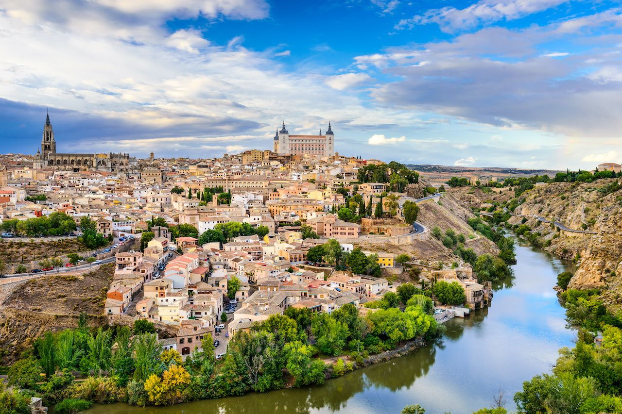 Toledo, Spain old town city skyline