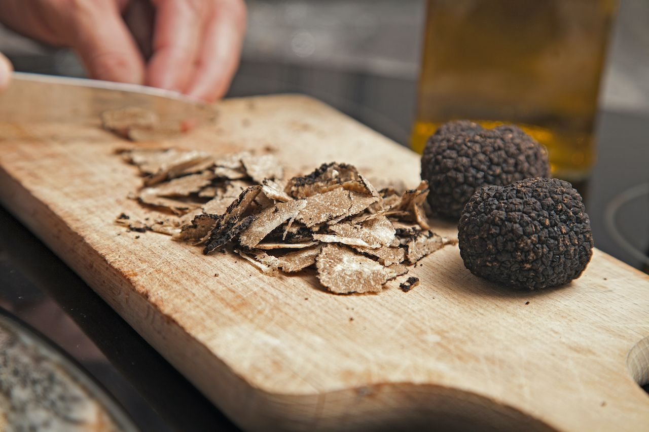 cutting truffles