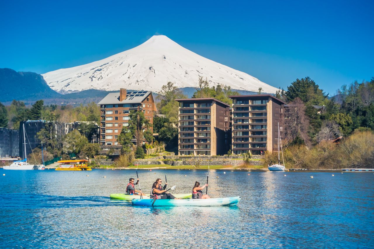 kayak on Lake Villarrica
