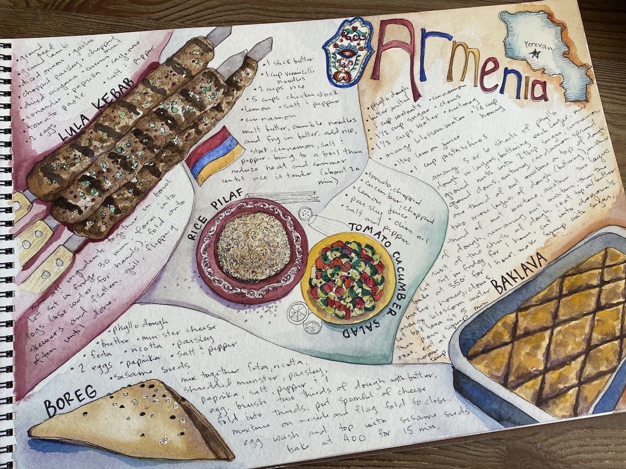 Armenia cook book page
