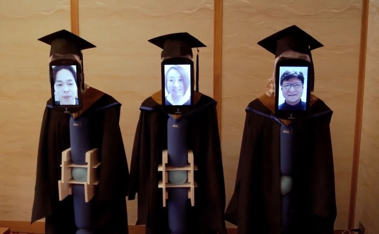 Avatar robots for graduating students