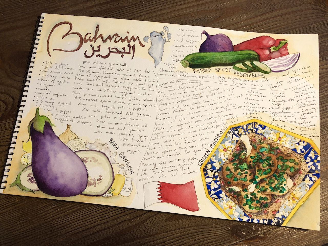 Bahraim cookbook page
