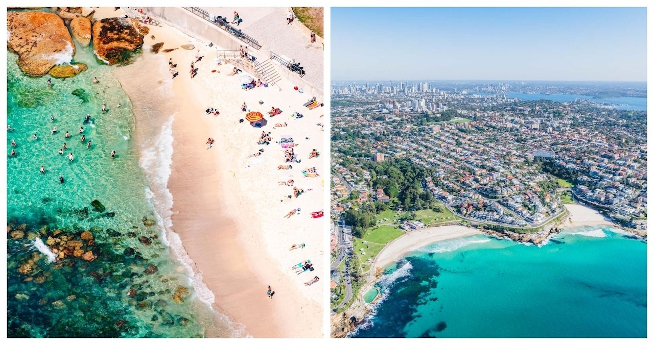 Bronte Beach Sydney before and after the lockdown