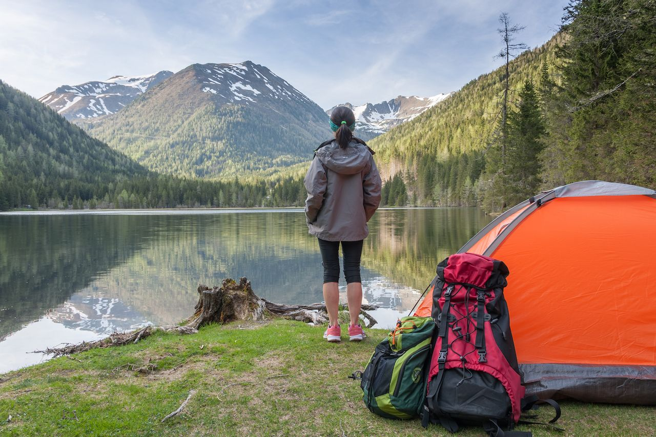 Permit-free camping in the US