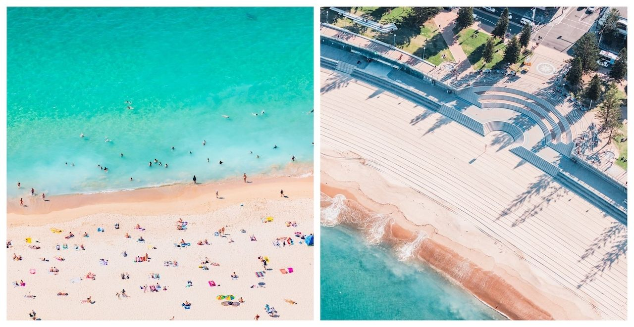 Coogee Beach Sydney before and after the lockdown