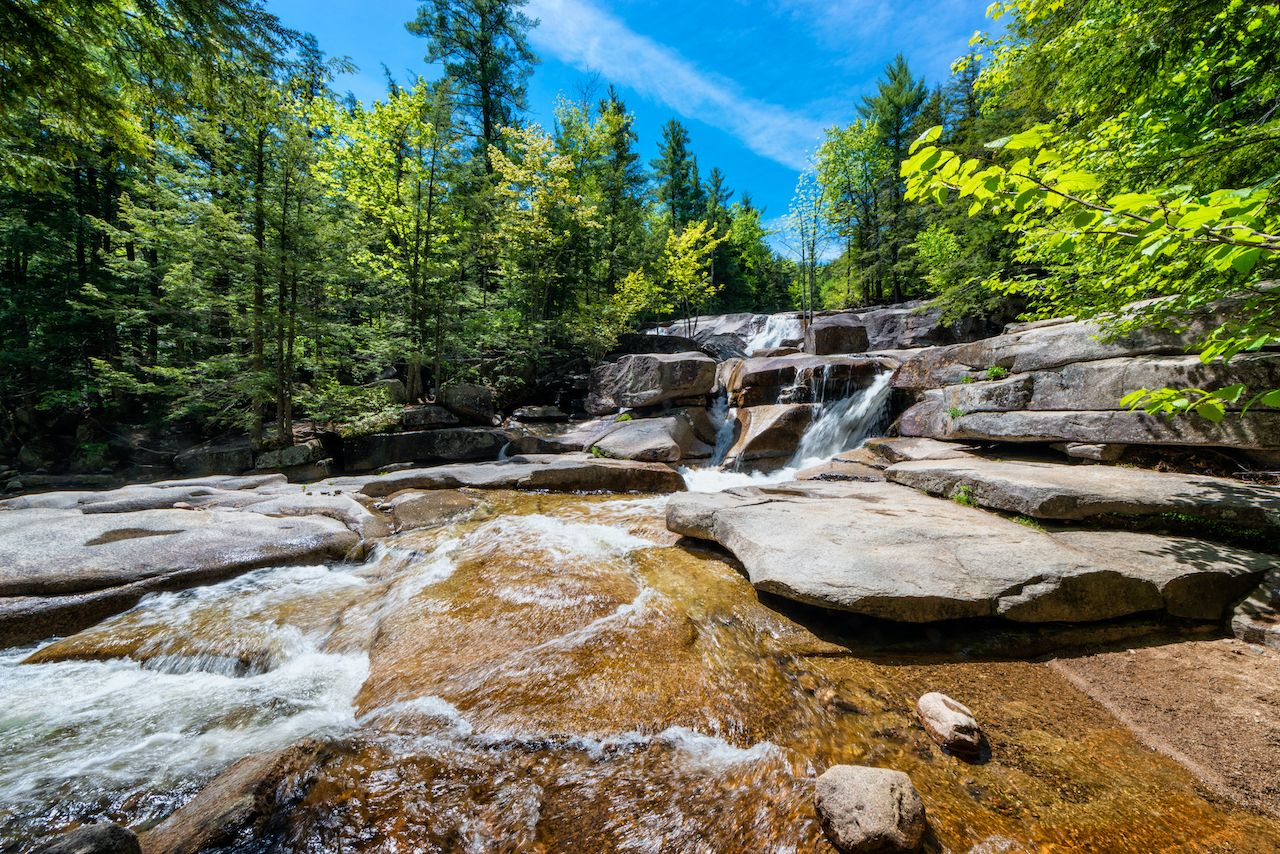Diana's Baths, a series of small waterfalls in the White Mountains of New Hampshire