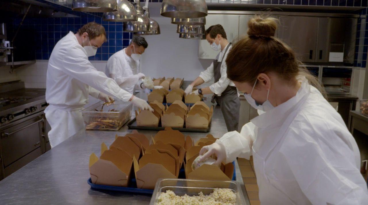 Eleven Madison Park prepares meals