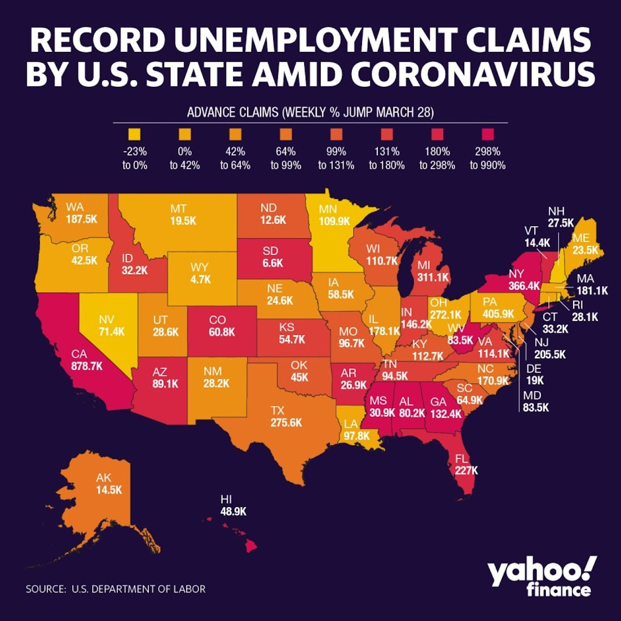 Unemployment rate map