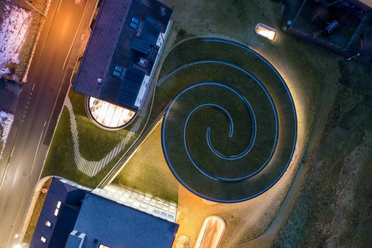 Musee Atelier Audemars Piguet spiral from above