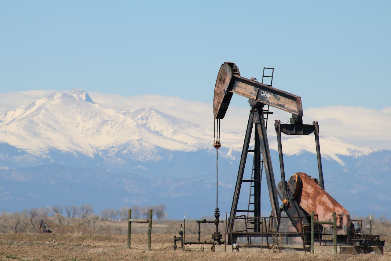 Oil well drilling on the Front Range of Colorado