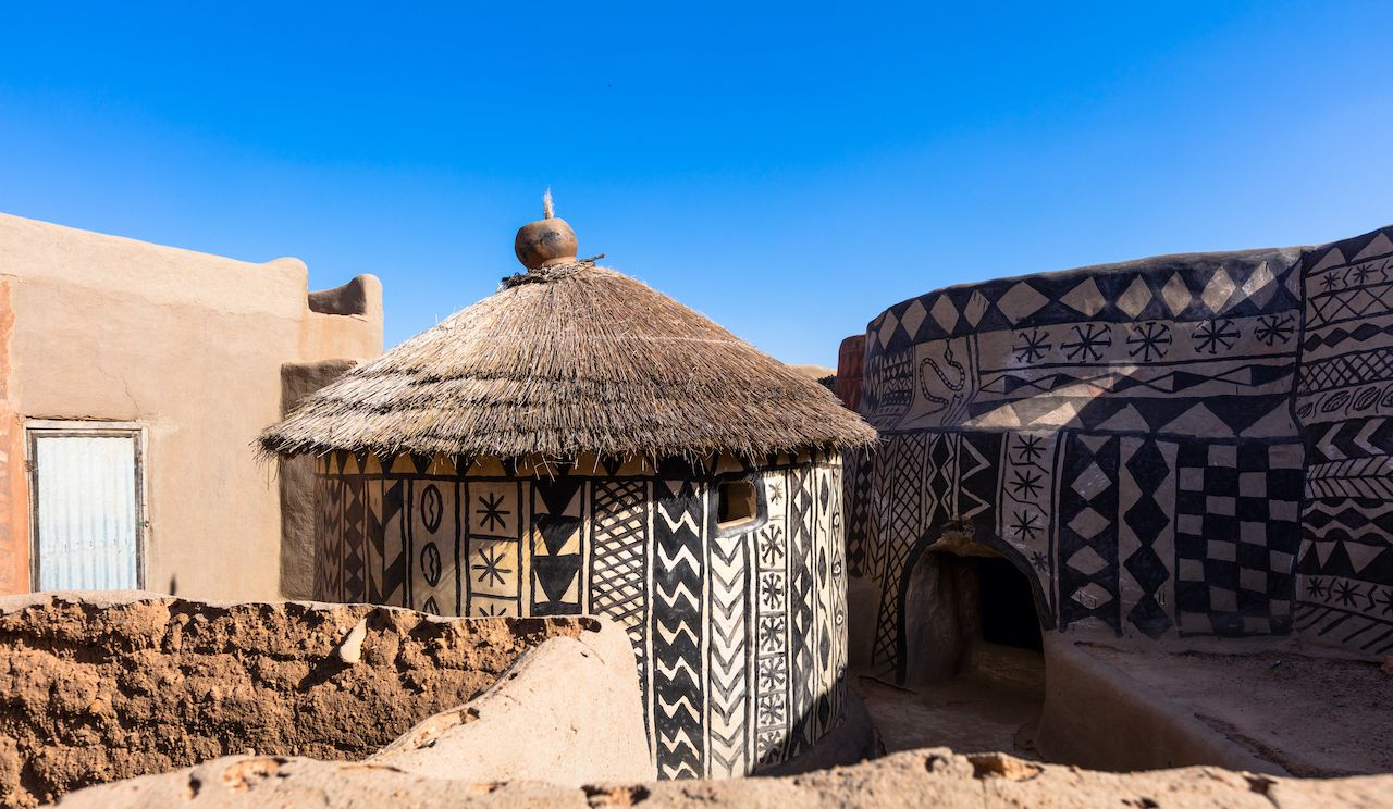 Painted Gurunsi Houses of Tiebele in Burkina Faso
