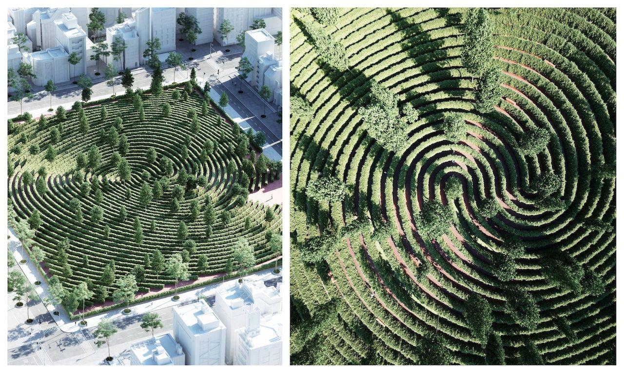 Parc de la distance collage 1