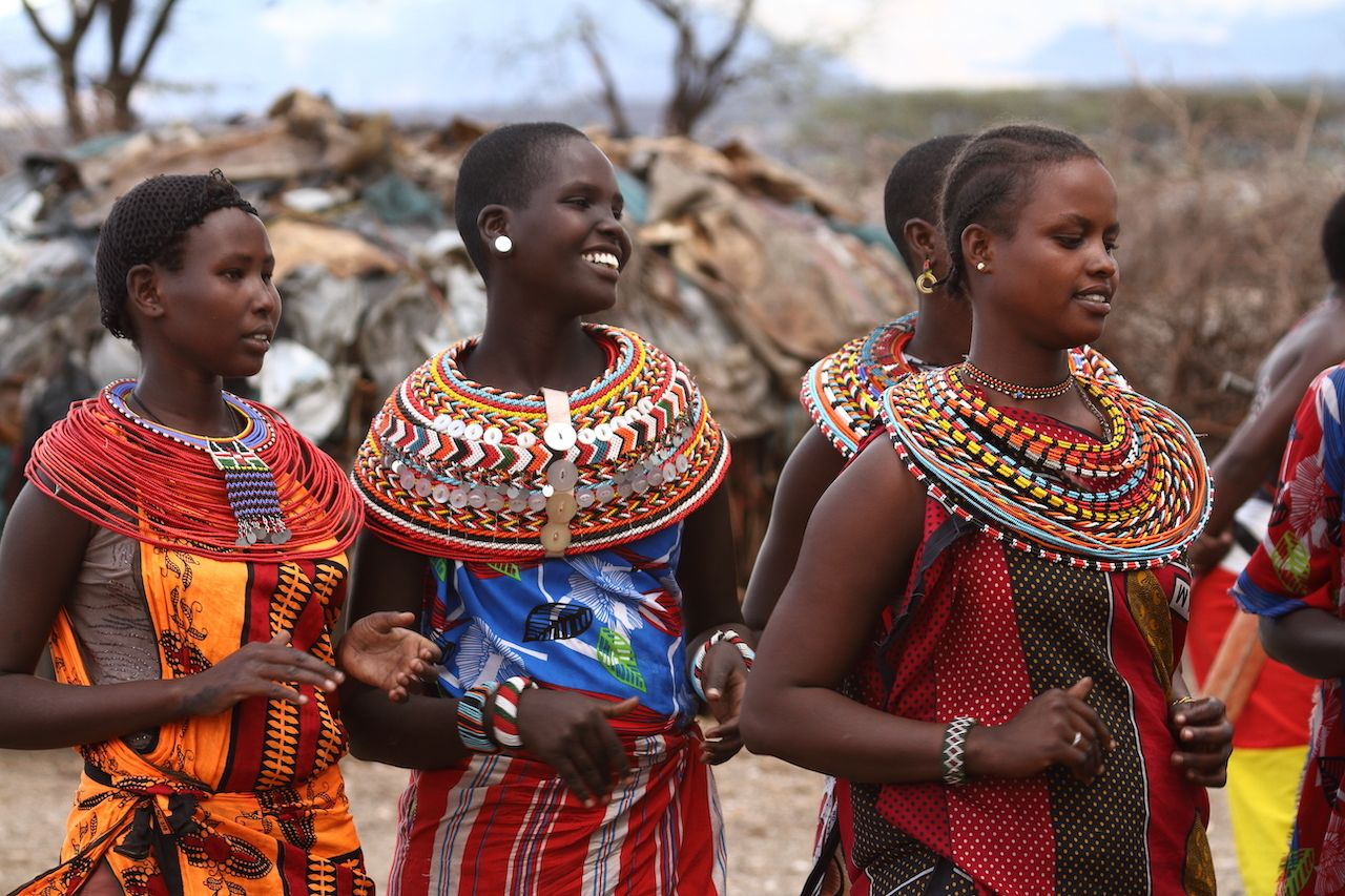 Samburu women in Kenya