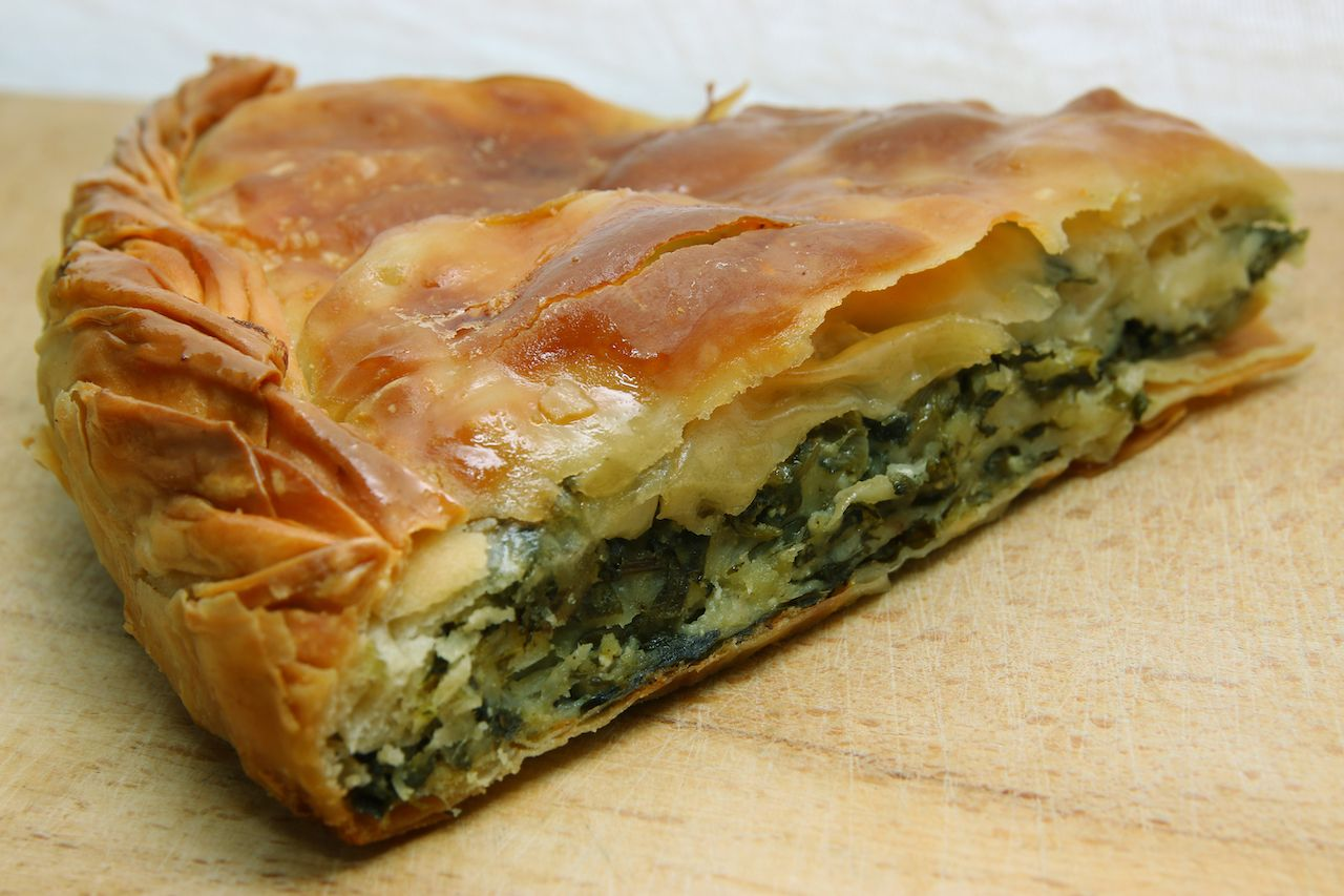 Spinach and cheese homemade pie