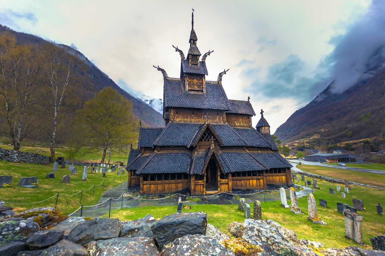 Stave Church of Borgund in Laerdal, Norway