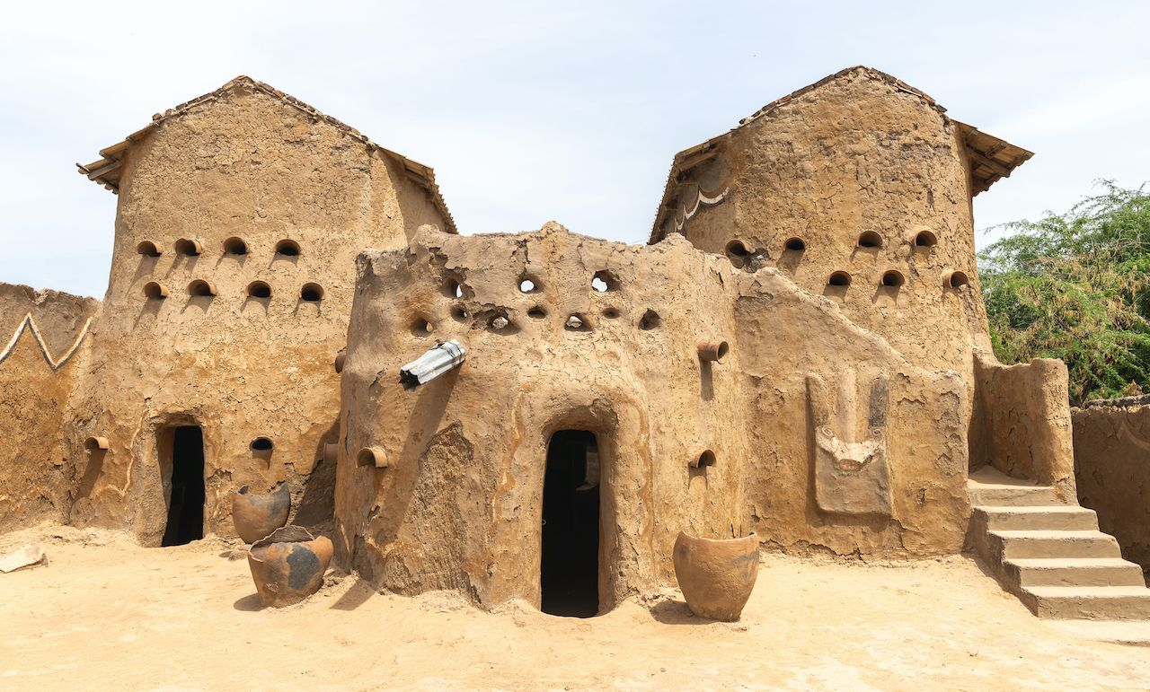Traditional Mud Huts of Gaoui in Chad
