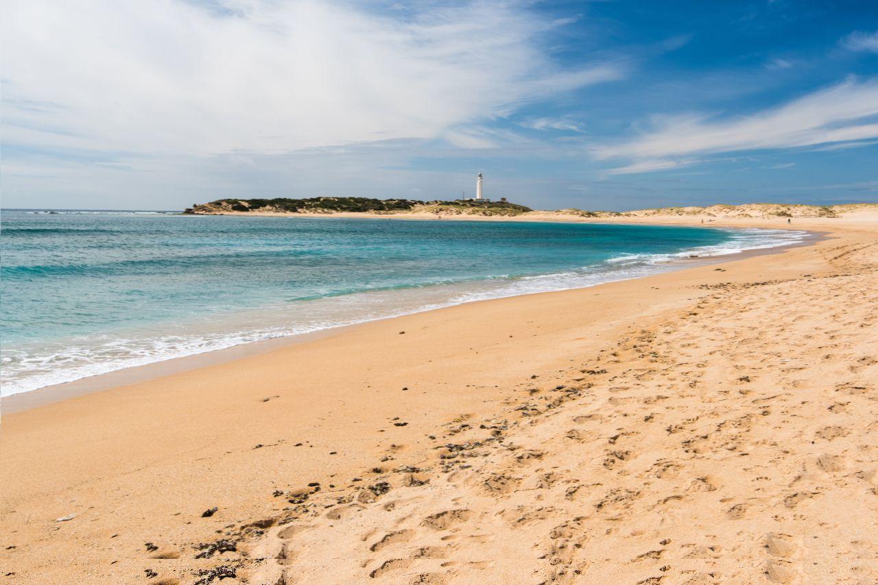 Beach sprayed with bleach in Spain