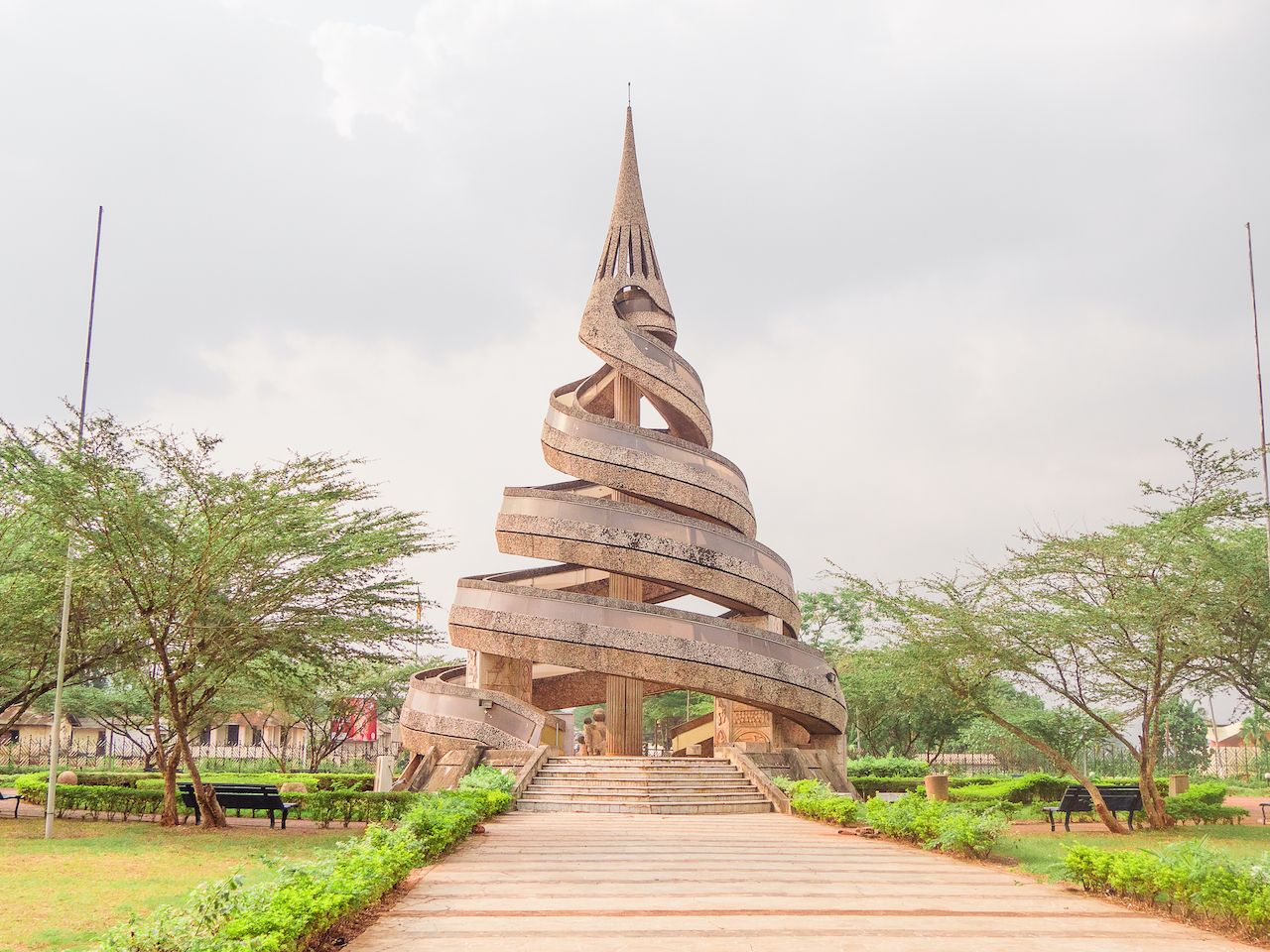 the monument of the reunification of Cameroon in Cameroon