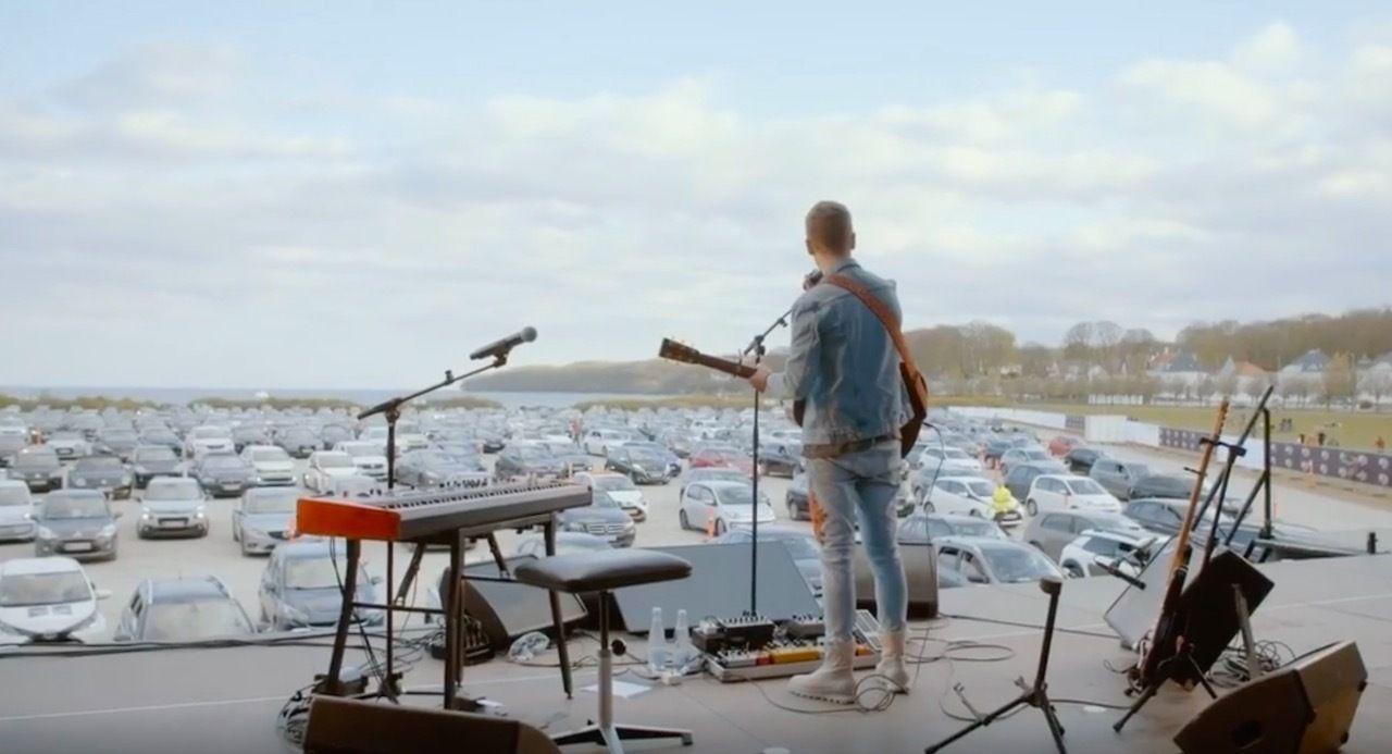 Denmark organizes drive-in concert